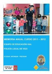 MEMORIA ANUAL CURSO 2011 – 2012 - Concello de Vigo