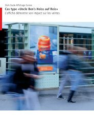 Cas type «Uncle Ben's Heiss auf Reis» L'affiche ... - APG SGA