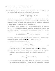 PHY–396 L. Problem set #22. Due April 18, 2013. 1. First, a bit of ...