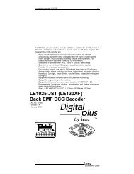 LE1025-JST (LE130XF) Back EMF DCC Decoder - Lenz USA