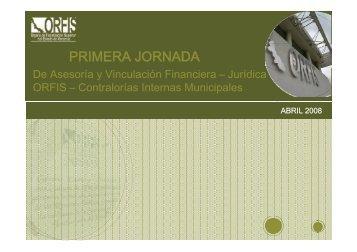 PRIMERA JORNADA - Orfis
