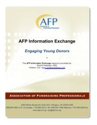Engaging Young Donors - Association of Fundraising Professionals