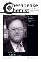 2005 Maryland Chemist Dr. Kit H. Bowen, Jr. - JHU Department of ...