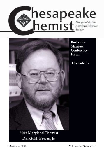 2005 Maryland Chemist Dr. Kit H. Bowen, Jr. - JHU Department of ...