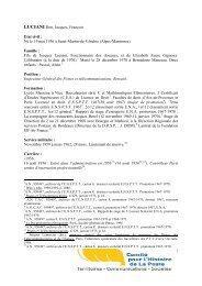LUCIANI Don, Jacques, François Etat civil : Né le 19 mai ... - La Poste