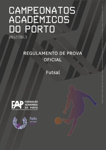 rpo cap futsal 2012 2013 - Federação Académica do Porto