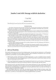 Samba 3 und AFS: Storage wirklich skalierbar