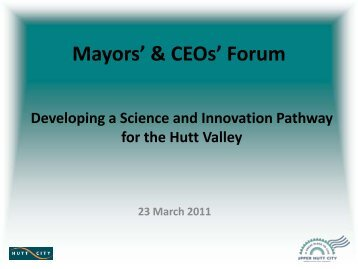 See a presentation from the 23 March forum - Hutt City Council
