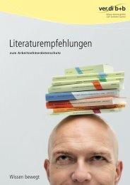 Literatur zum arbeitnehmerdatenschutz (pdf-Datei) - ver.di b+b