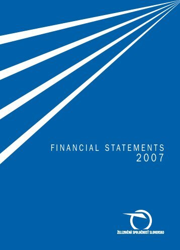 Individual Financial Statements pursuant to the International ... - ZSSK