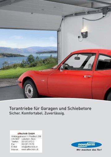 Torantriebe für Garagen und Schiebetore