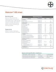 Makrolon® MG sheet - Sheffield Plastics