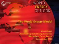 Modelling the Power Sector and Electricity Prices in IEA's World ...