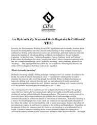 Are Hydraulically Fractured Wells Regulated in California? YES!