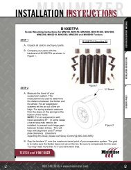 Mounting Instructions B100BTPA - Minimizer