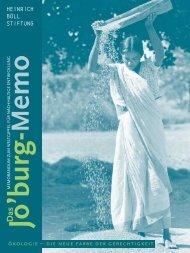 Jo'burg Memo - World Summit on Sustainable Development