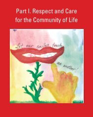 Part I. Respect and Care for the Community of Life - Earth Charter ...