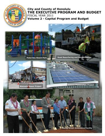 FY 2011 Proposed Capital Program and Budget - City and County of ...