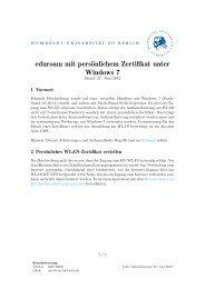 eduroam mit persönlichem Zertifikat unter Windows 7