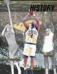 2012-13 Colorado Basketball history - CUBuffs.com