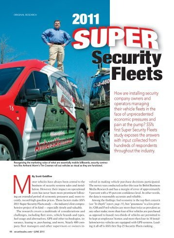 How are installing security company owners and operators ...