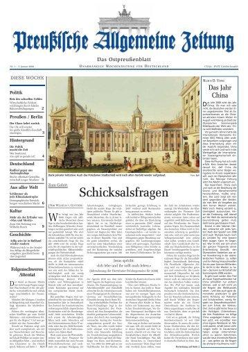 Frohes neuesjahr! - Archiv Preussische Allgemeine Zeitung ...