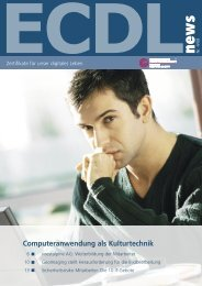 Computeranwendung als Kulturtechnik - ECDL