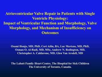 Impact of Ventricular Function and Morphology, Valve