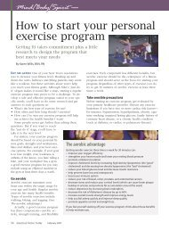 How to start your personal exercise program - American Nurse Today