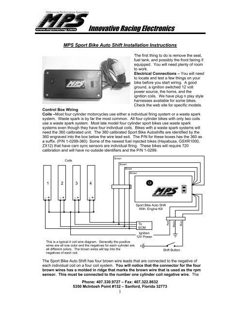 Mps Sport Bike Electric Air Shifter, Hayabusa Wiring Diagram