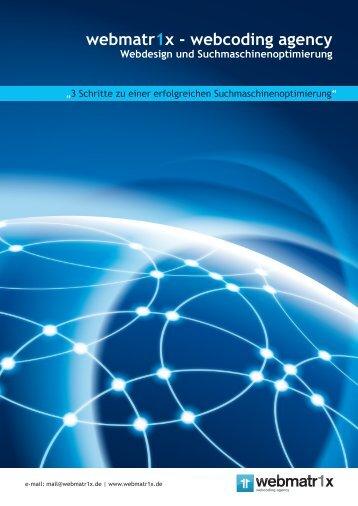 Handbuch zur Suchmaschinenoptimierung - Webmatr1x