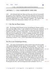 artikel 7 • das sakrament der ehe - Gemeinschaft vom heiligen Josef
