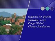Regional Air Quality Modeling: Long Range Global Change ...