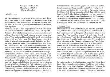 Predigt zu Gen 50,15-21 Meimsheim, 10.7.2011 Pfarrer Ulrich Harst ...