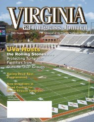Journal of the Virginia Turfgrass Council July/August 2006