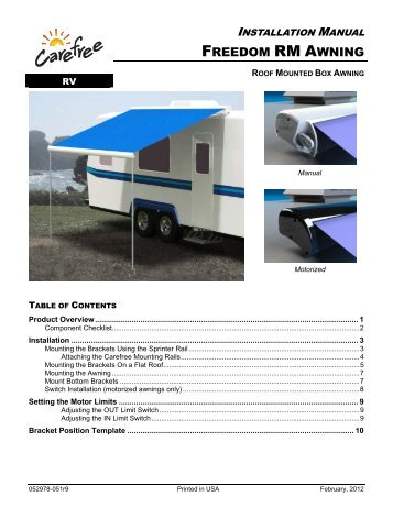 One Touch 12 Volt Patio Awning Auto Carefree Of Colorado
