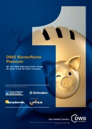DWS RiesterRente Premium - 首页- Great Wall Investments