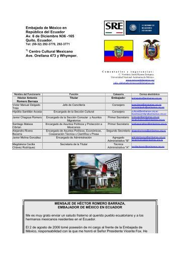 Embajada de México en Austria - México Diplomático