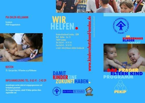 Flyer zu den PEKiP-Kursen - Deutscher Kinderschutzbund Landau