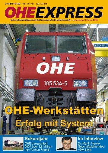 OHE-Werkstätten - OHE - Ost Hannoversche Eisenbahn: Home