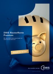DWS RiesterRente Premium - MarkoButze