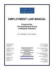 EMPLOYMENT LAW MANUAL - Margolis Edelstein