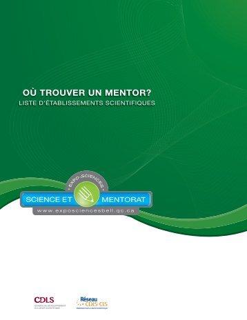 OÙ TROUVER UN MENTOR? OÙ TROUVER UN ... - Expo-sciences