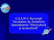 """Obiectivele Specializării """"Piscicultură şi acvacultură"""" - Facultatea de ..."""