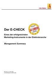 Der E-CHECK...