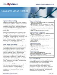 OpSource – Cloud Hosting