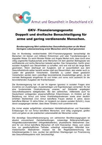 GKV- Finanzierungsgesetz: Doppelt und dreifache Benachteiligung ...