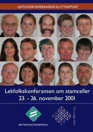 Lekfolkskonferanse om stamceller - Bioteknologinemnda