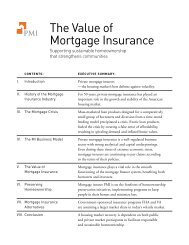 The Value of Mortgage Insurance - PMI Group, Inc.