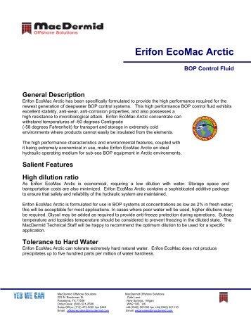 Erifon EcoMac Arctic - ER Trading AS
